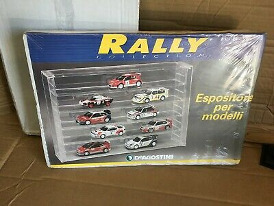 Teca Espositore Bacheca Plexiglas Automodelli 1/43 Rally Collection De Agostini