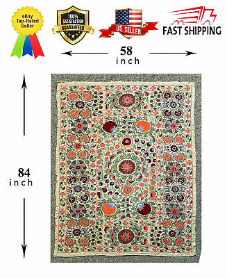 Silk Original Vintage Handmade Embroidery Wall Hanging Suzani SALE WAS $599.00