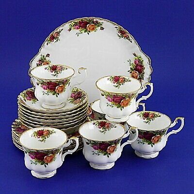Six Royal Albert 'Old Country Roses' Trios & Cake Plate & Spares