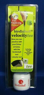 "Birdieball ""Velocity Tee"" Golf Tee (New In Pkg) Practice Your Driver At Home!"