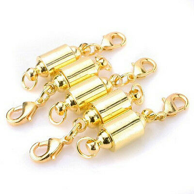 5X MAGNETIC CLASPS VERY STRONG SILVER/GOLD PLATED Jewelry Necklace Findings $ tc
