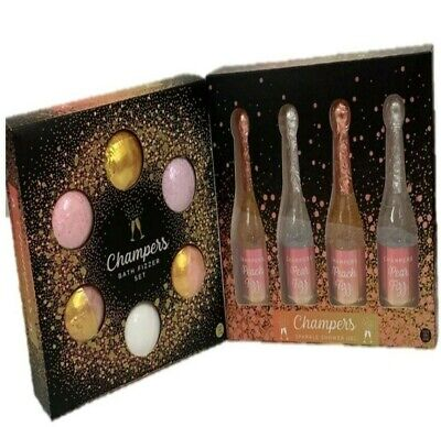 Champers Novelty Bath Bomb / Fizzers Pearl Champagne Shower Gel Gift Set