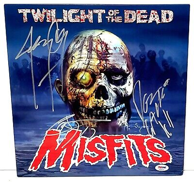 """The MISFITS Jerry Only +2 Signed """"TWILIGHT OF THE DEAD"""" Vinyl LP PSA/DNA"""