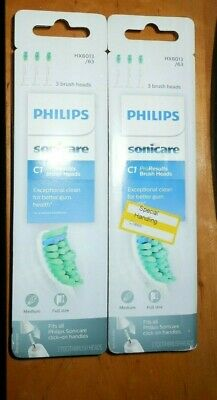 Philips Sonicare C1 Pro Results 3 Brush Heads HX6013/63 2 Pack 6 Total Genuine
