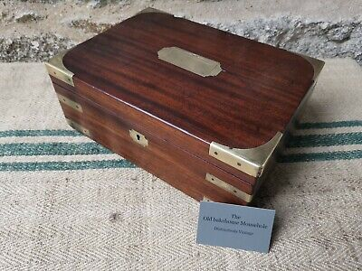 A 19th Century Mahogany Campaign  Document Box by Green