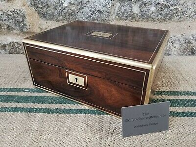 A 19th Century Rosewood Campaign  Jewellery Box by Green