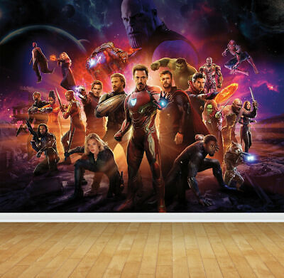 Avengers End Game Super Hero Wall Art Mural Wall Paper Self Adhesive Vinyl V1