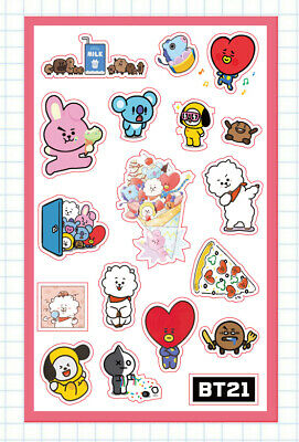 Kpop BTS BT21 Stickers TATA KOYA COOKY Sticker Phone Baggage Sticker 21*13.5cm