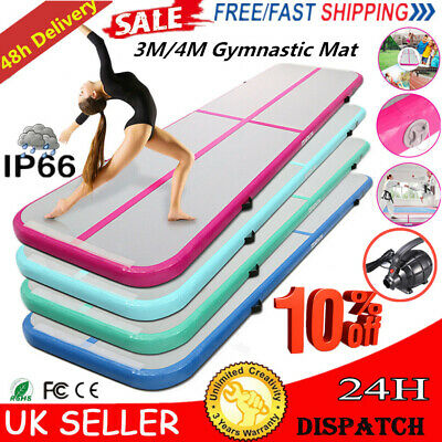 Air Track Floor Inflatable Airtrack Gymnastics Tumbling GYM Mat 3M/4M with Pump