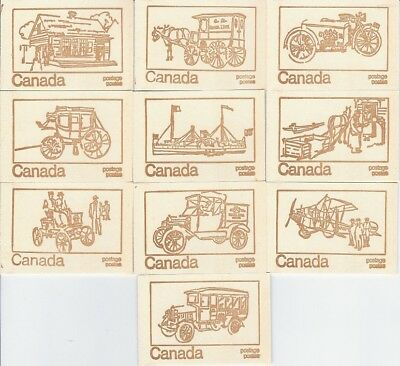 Canada 1971 Centennial Booklet UNI #BK69f -Set of 10 Different Covers -CV $25.00