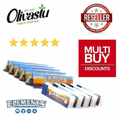 5 x Elements King Size Rolling Paper Ultra Slim + 4 x Premium Roach Tip Packs