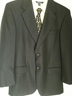 35W $695 YVES SAINT LAURENT Black Tuxedo Side Stripe Wool 120's Dress Pants