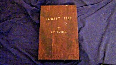 """Artist J. Ashting Signed, Acrylic Art Piece Titled: """"A Forest Fire"""""""