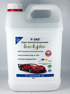 Eucalyptus Scented Screen Wash 5L Concentrated + Rain Repellent Makes 20L