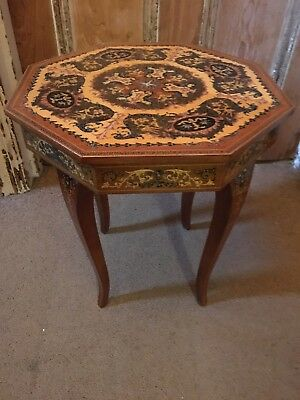 Vintage Sewing Table/Coffee Table. Very Decorative