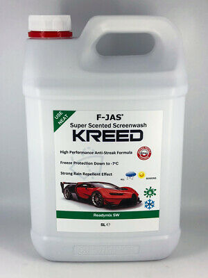 Kreed Aventus Scented Screen Wash 5L Readymix +Rain Repellent, Smells Like Creed
