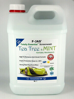 Naturally Scented Tea Tree & Mint Screen Wash 5L Concentrated + Rain Repellent