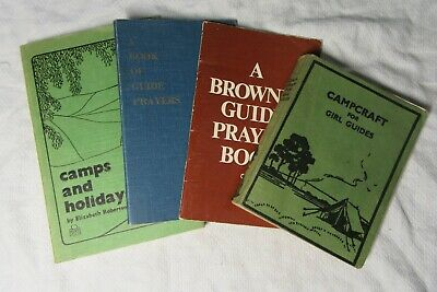 4 x Girl Guide Association Booklets - CAMPS CAMPCRAFT & PRAYERS Brownies