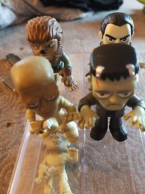 Universal Monsters Mystery Mini Dracula Wolfman Frankenstein Mummy Set w/boxes