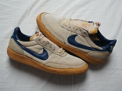 e15f567756668 VINTAGE 80S NIKE Village Leather Casual Sneakers Mens Size 7.5 USA ...