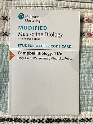 Modified Mastering Campbell biology 11th e Pearson e Text Access card ONLY
