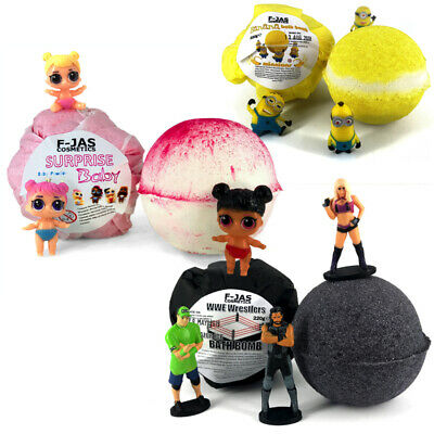 Surprise Toy Bath Bombs for Kids TRIPLE PACK - Minions, WWE, Surprise Baby