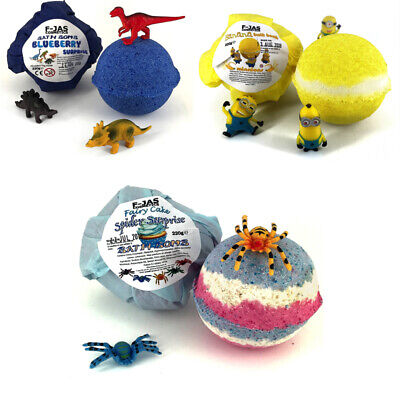 Surprise Toy Bath Bombs for Kids TRIPLE PACK - Minions, Dinosaur, Spider