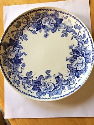 Antique VTG Royal Bonn Serving Plate~Franz Anton Mehlem Bonn~Germany~BLUE FLORAL