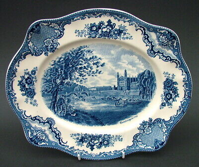 Johnson Brothers Old Britain Castles Blue Oval Platter 25.5cm Cambridge - in VGC