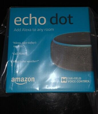 AMAZON ECHO DOT 3rd Generation With Alexa Voice Media Device Charcoal