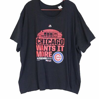 Chicago Cubs Womens Graphic T Shirt Plus Size 4X Baseball Post Season 2015