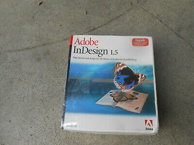 Adobe Indesign 1.5-Full Version For Macfactory Sealed-Brand New