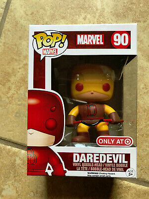 Funko POP TARGET EXCLUSIVE Marvel Comics DAREDEVIL Yellow Costume #90 w/ protect