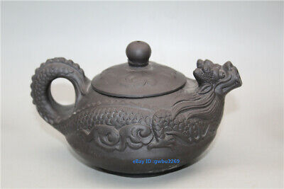 China  Yixing Zisha Handmade  Carving Dragon pattern Teapot