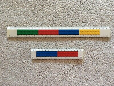 2 x Genuine LEGO Buildable Rulers  - 15cm and 30cm rulers
