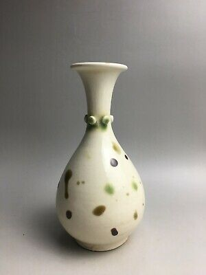 precious Chinese Xing kiln porcelain white glaze Colour Points vase H''18cm