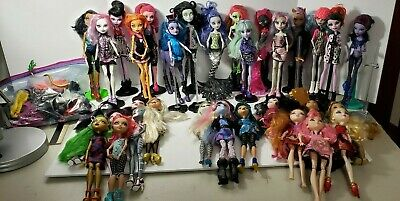 Monster High And Ever After Doll Lot Of 33 Total 23 Mh , 6 Ead, 4 Mp + Acc.