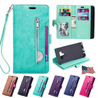 For Samsung Galaxy Note 9/S9/S8+ Flip Leather Phone Case Cover Card Wallet Stand