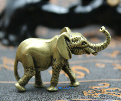 Chinese archaize Pure Brass Small Elephant statue