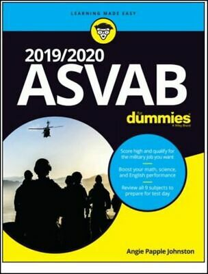 ASVAB for Dummies 2019 / 2020 (Paperback) MIlitary Entrance Study Book FAST SHIP