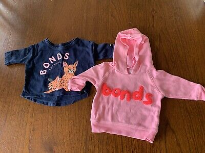 Two Baby Girl 000 Bonds Jumpers