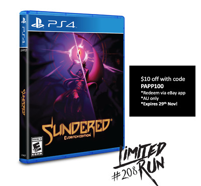 Sundered Eldritch Edition PS4 Limited Run #208 LRG 3000 WW Brand New Sealed