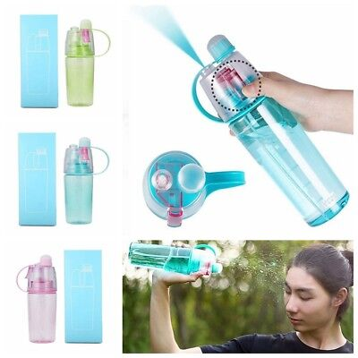 Protable Water Bottle With Straw Drinks Spray Cup Hiking Climbing Cycling Sports