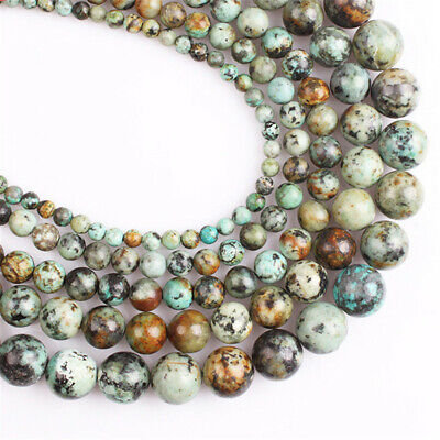 4-12mm Natural African Turquoise Loose Beads Diy Accessories Spacer Hole Charm
