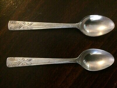Antique Grosvenor silver plated small teaspoons  - VGC