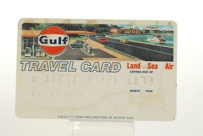 Vintage Gulf Oil Logo Travel Credit Card Gas Station & Car Graphic 1979