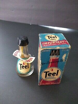 Vintage Early Teel liquid Dentifrice teeth whitening Proctor and Gamble medicine