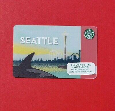 Starbucks Orca Seattle city Gift Card New Limited release 2015