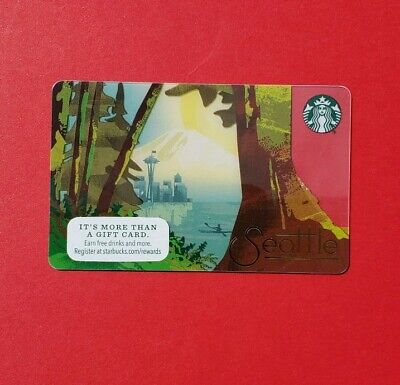 Starbucks Seattle city Gift Card New Limited release 2015
