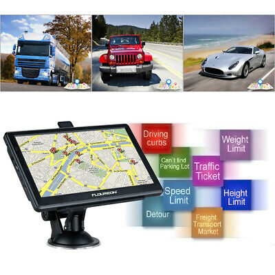 "8GB 7"" Touch Car Truck GPS SAT NAV Navigation Navigator FM Speedcam UK+EU maps"